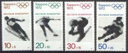 DEUTSCHLAND 1971 Mi-Nr. 680/83 ** MNH