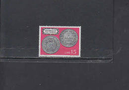 S.MARINO  1972 - Sassone  870**  - Moneta Su Francobollo