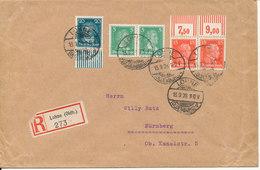 Germany Reich Registered Cover Lohne 13-9-1928 Sent To Nürnberg