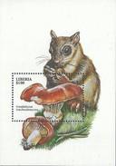 LIBERIA - Champignons - Gomphidius Roseus Et Ecureuil
