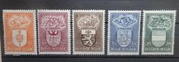 BELGIE   1947    Nr. 756 - 760      Scharnier *      CW  21,00