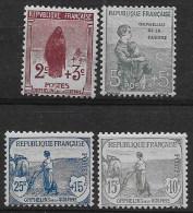 France 1917 - N° YT  148 à 151,  Neuf ** - Cote 450 €