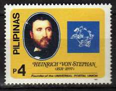 Philippines 1997 The 100th Anniversary Of The Death Of Heinrich Von Stephan (Founder Of U.P.U.), 1831-1897.MNH - Filippine