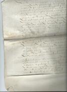 1676- Grand Vélin 32cm Sur  47 Cm - Manuscrits