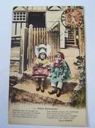 Cp1107 Tom18 Notre Normandie Texte De Henri Ermice  Garçon Et Fille En Sabot  Coiffe Et Bonnet - Enfant