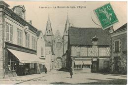 Levroux - La Maison De Bois, L' Eglise - France