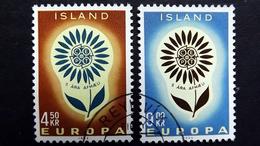 Island 385/6 Oo/used, EUROPA/CEPT 1964 - 1944-... Republik