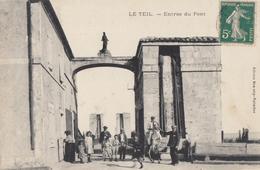 CPA - Le Teil - Entrée Du Pont - Le Teil