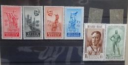 BELGIE   1948    Nr. 781 - 784 /  785 - 786     Scharnier *        CW  47,50