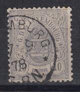 LUXEMBOURG N° 30 Used Gestempeld Oblitéré – 10 C Gris (1874-80)