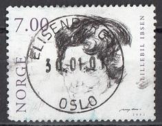 1280 Norvegia 2001 Cinema Attrici Lillebil Ibsen (1899-1989) Used Viaggiato Norge Norway