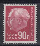 SAAR – SARRE  407 * MH – (1957) – President Heuss - 1957-59 Fédération