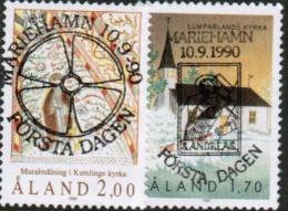 1990 Aland Islands Michel 42-3 With Lyxury FD Cancels. - Aland