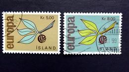 Island 395/6 Oo/used EUROPA/CEPT 1965 - 1944-... Republik
