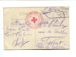 Cachet De Franchise Militaire - CROIX ROUGE - Gare De Nantes P.O. Société De Secours Aux Blessés Militaires Infirmerie - Marcophilie (Lettres)