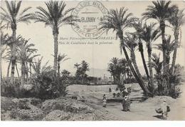 Maroc Le Maroc Pittoresque MARRAKECH Piste De Casablanca Dans La Palmeraie  Cachet....G - Marrakech