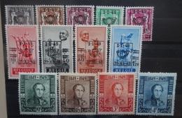 BELGIE   1949    Nr. 798 - 802 / 803 - 806 / 807 - 810       Scharnier *        CW  11,75
