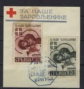 Serbien Michel No. 54 - 55 II Gestempelt Used - Besetzungen 1938-45