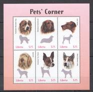 C289 LIBERIA FAUNA DOGS PETS CORNER 1KB MNH