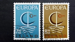 Island 404/5 Oo/used EUROPA/CEPT 1966 - 1944-... Republik