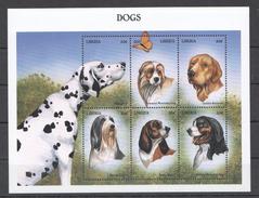 C290 LIBERIA FAUNA PETS DOGS 1KB MNH
