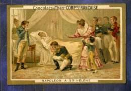 Chromo Cie Française Histoire Napoleon à Ste-Hélène Romanet Victorian Trade Card - Chocolat