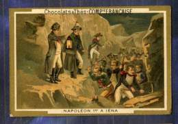 Chromo Cie Française Histoire Napoleon 1er Iena Romanet Victorian Trade Card - Chocolat