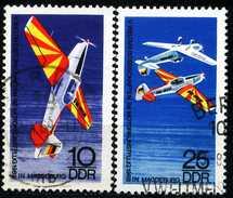 DDR - Michel 1391 / 1392 - OO Gestempelt (A) - WM Im Motorkunstflug