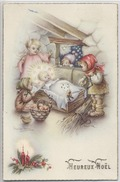 "CARTE FANTAISIE - "" Heureux  Noel  ""   - - Künstlerkarten"