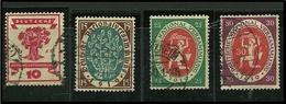 GERMANIA REICH 1919 / 20 - A. C. WEIMAR N. 106/09 Usati, Serie C.- Cat. 9,00 € - Lotto N. 3263