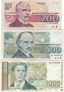BULGARIA LOT SET 200 500 1000 2000 LEVA 1992 1993 1994 1996 F-VF Free Shipping Via REGULAR  Air Mail. (BUYER RISK) - Bulgaria