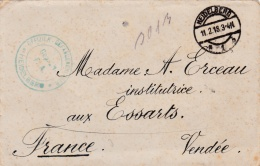 Lettre D'un Prisonnier Français En Allemagne  CaD Neidelberg Du 11 02 1918 Et Cachet Du Camp 4 Scans - WW I