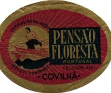 1Hotel Label Etiquette De Voyage Luggage Label   Skifahren Ski  Portugal COVILHA PENSAO FLORESTA - Etiquettes D'hotels