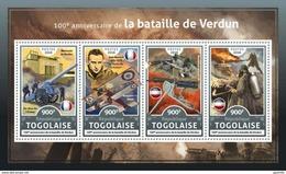 Togo 2016, First War World, Battle Of Verdun, 4val In BF