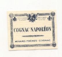 étiquette -  1900/1930 - Mini étiquette Mignonette - Flask - Distillerie  MINARD  COGNAC  Napoléon - Whisky