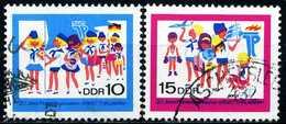DDR - Michel 1432 / 1433 - OO Gestempelt (A) - 20 Jahre Pionierorganisation