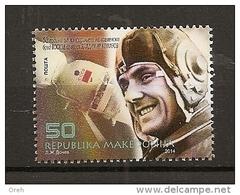 MACEDONIA 2014,SPACE,ASTRONOMY,VLADIMIR  KOMAROV,1V,,MNH