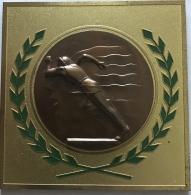 Medaille. ULB - VUB. Commissariat Aux Sports. Championnat Universitaire De Cross 1962. 80 Mm . 166 Gr. - Belgium