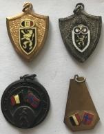 Sport. Lot De 4 Medailles. Athlétisme. LRBE-KBAB. 1963 - Belgique