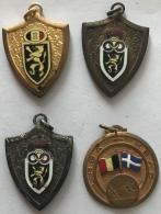 Sport. Lot De 4 Medailles. Athlétisme. LRBE-KBAB. Années 60 - Belgique