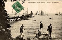 CPA Noirmoutier Bois De La Chaize - Estacade - Jour De Régates - Animée - Noirmoutier