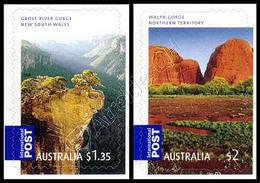 Australia 2008: 2 Val. Gole Autoadesivi / Gorges, 2 Self-adhesive Stamps **
