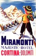 1Hotel Label Etiquette De Voyage Luggage Label   Skifahren Ski   Hotel Miramonti Majestic Hotel Cortina Dolomiti Italia - Etiquettes D'hotels