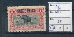 BELGIAN CONGO  1909 ISSUE TYPO. COB 46 MNH POSTFRIS SANS CHARNIERE