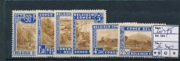 BELGIAN CONGO  NATIONAL PARK COB 203/8 MNH POSTFRIS SANS CHARNIERE