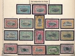 BELGIAN CONGO 1894/1900 ISSUE NICE SELECTION