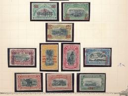 BELGIAN CONGO 1921 ISSUE COB 85/94 MNH POSTFRIS SANS CHARNIERE