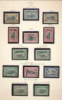 BELGIAN CONGO  1921/22 ISSUES VARIETIES VERY NICE SELECTION MAJORITY LH MET PLAKKER CHARNIERE