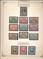 BELGIAN CONGO  1934/36 ISSUE  COB 184/196 MNH POSTFRIS SANS CHARNIERE