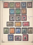 BELGIAN CONGO  1943 ISSUE PALMS SET TWO PAGES COB 228/267 MNH POSTFRIS SANS CHARNIERE